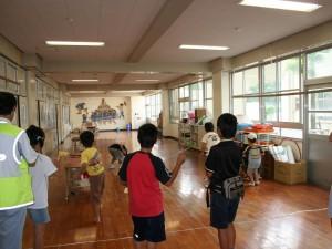 教室棟の廊下